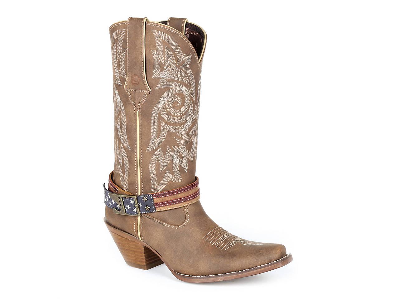 f09897b17c75c4 Durango Flag Strap Cowboy Boot Women s Shoes