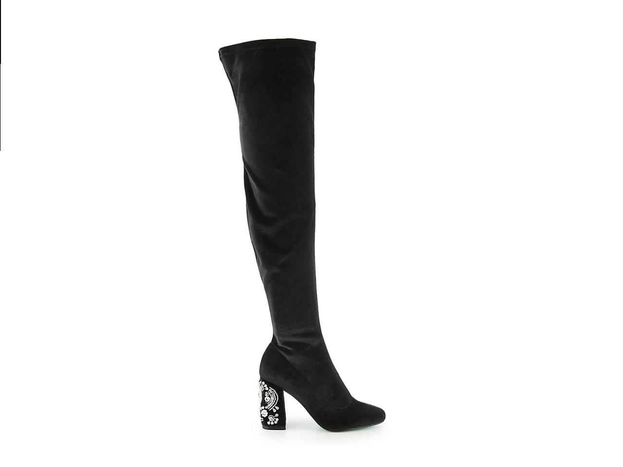6754ff0d7ce Betsey Johnson Gisel Velvet Over The Knee Boot Women s Shoes