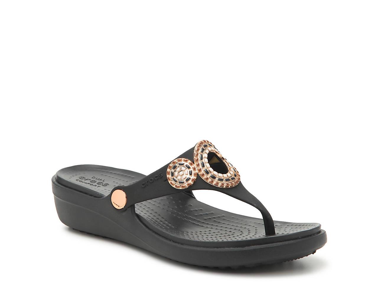 ac17f9d48949 Crocs Sanrah Wedge Sandal Women s Shoes