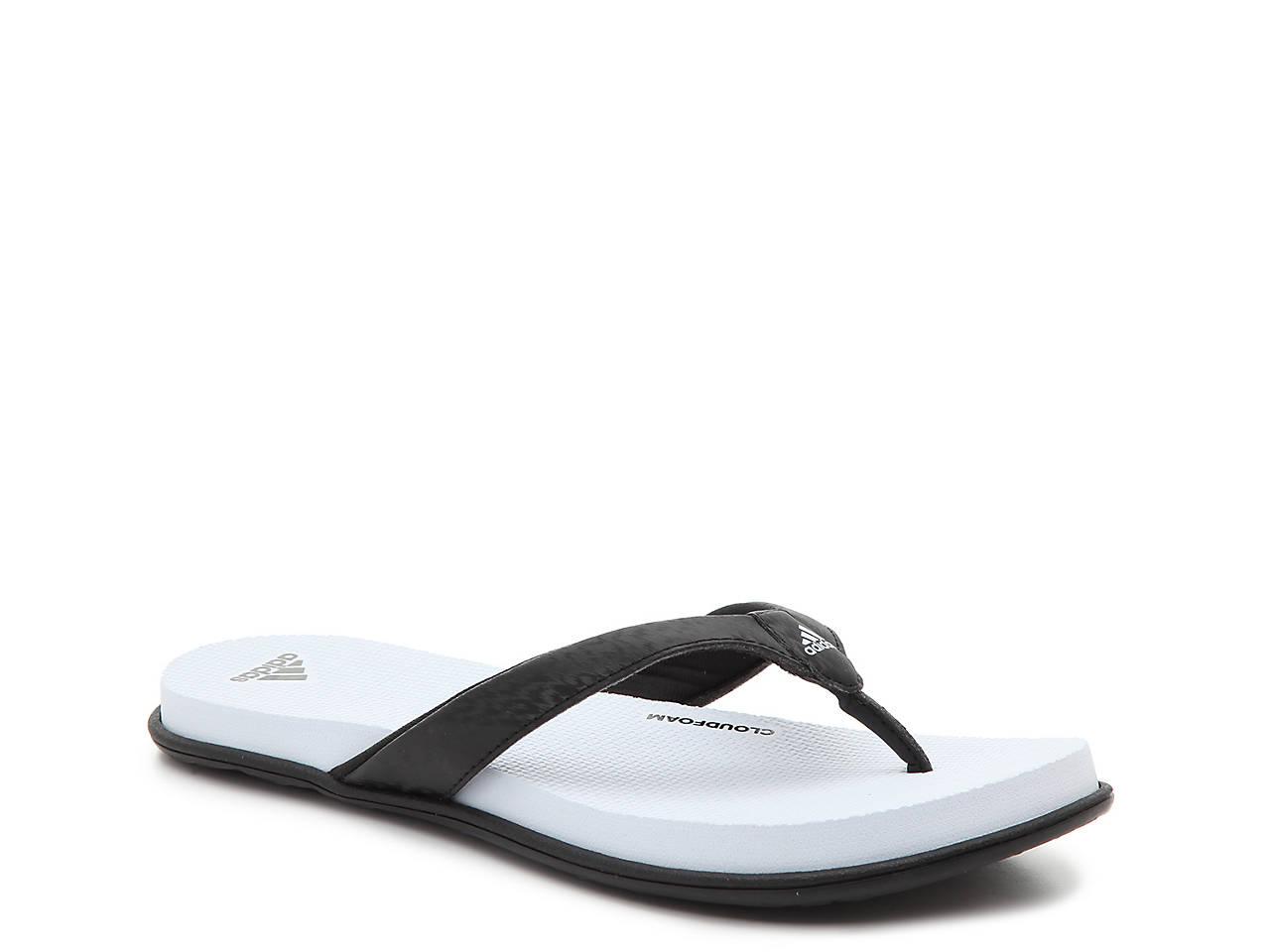 adidas cloudfoam flip flops women