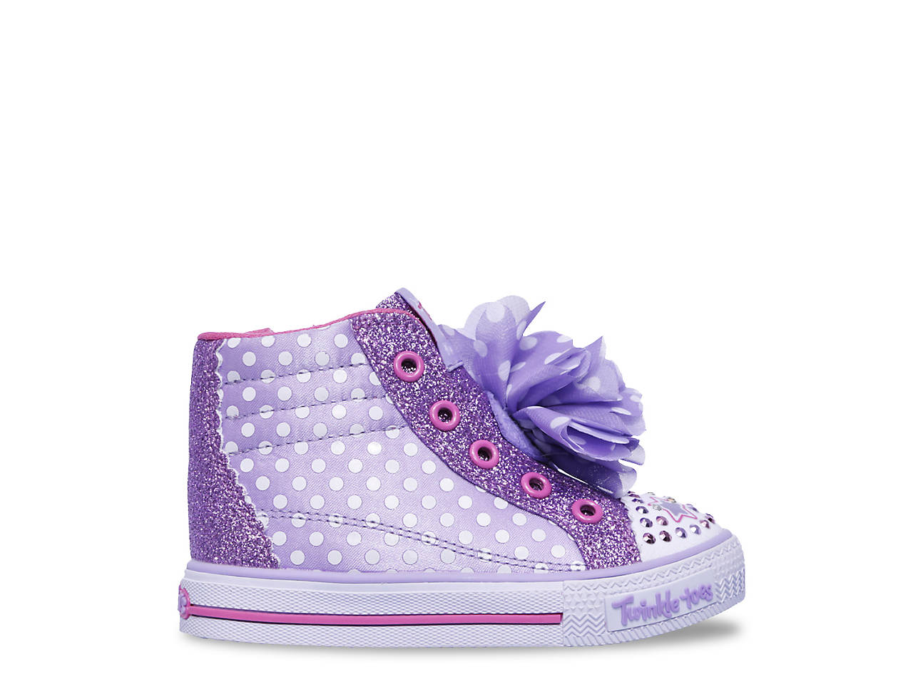 Skechers Twinkle Toes Shuffles Flower Fun Light Up Sneaker