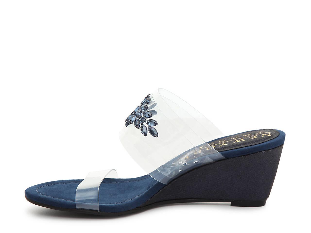 New York Transit Womens Fan of Mine Open Toe Casual Slide Sandals