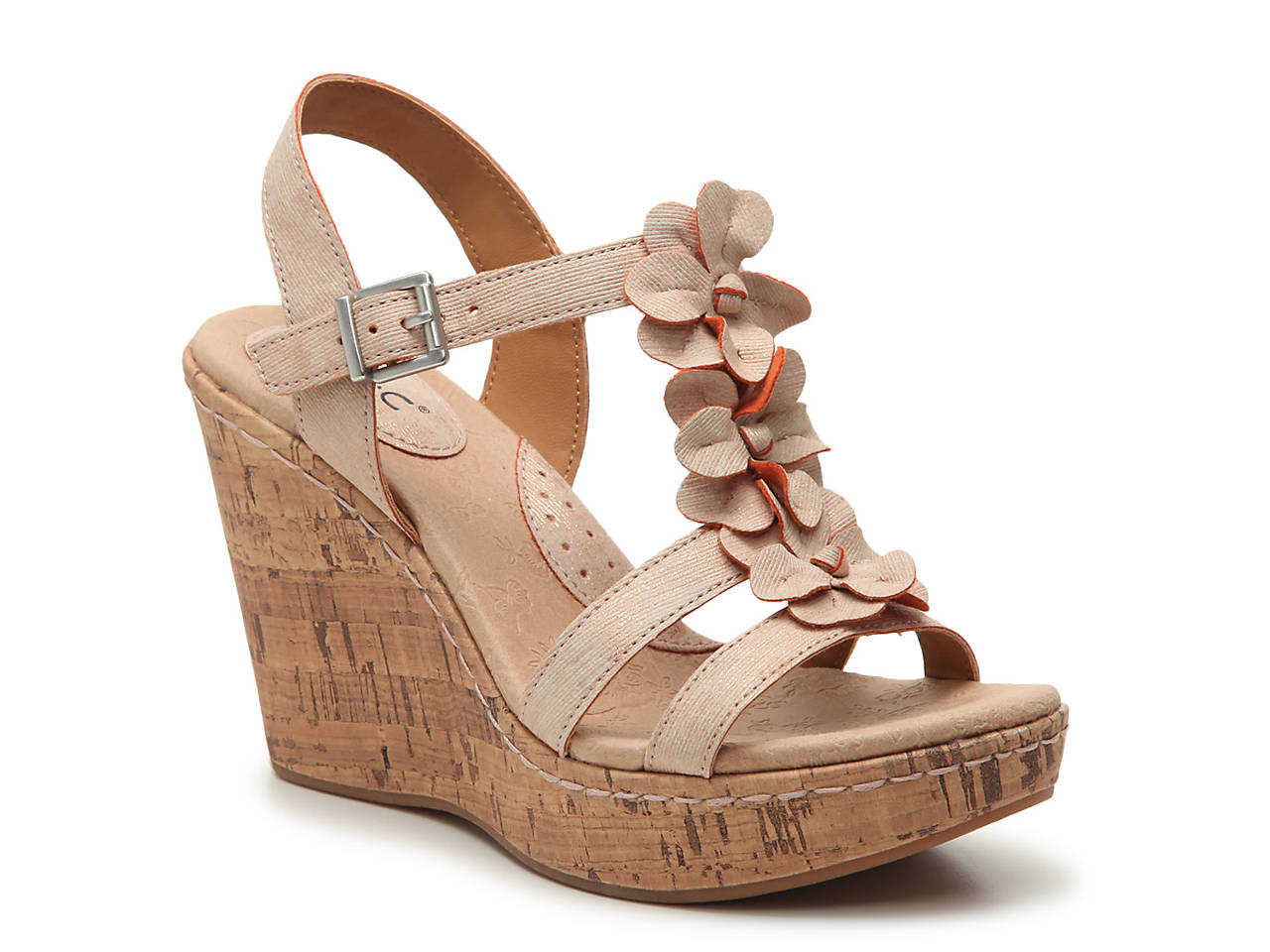 59804fc3455e b.o.c Jills Wedge Sandal Women s Shoes