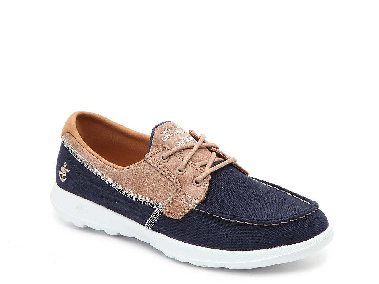 skechers slip on boat shoes