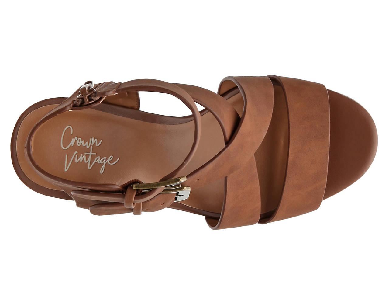 Crown Vintage Lillee Wedge Sandal Womens Shoes Dsw Tendencies Sandals Footbed 2 Strap Brown 42 Next