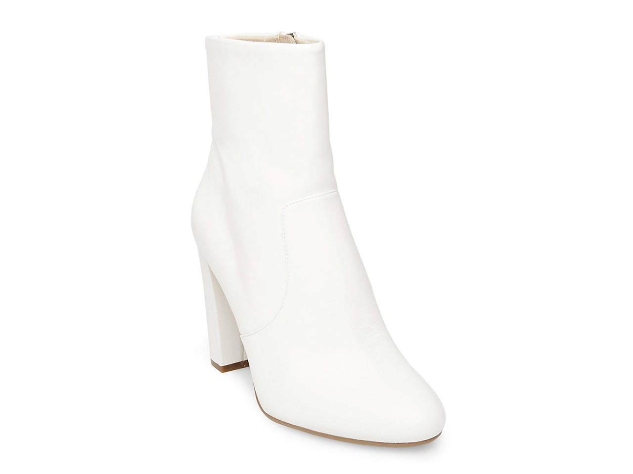 Steve Madden EDITOR - High heeled ankle boots - white