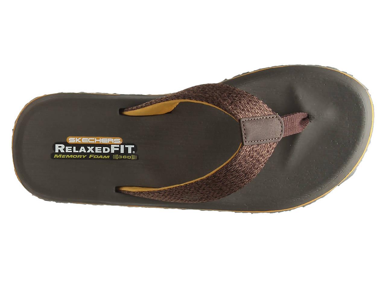 d746a49faf93 Skechers Relaxed Fit Tantric Ravel Flip Flop Men s Shoes