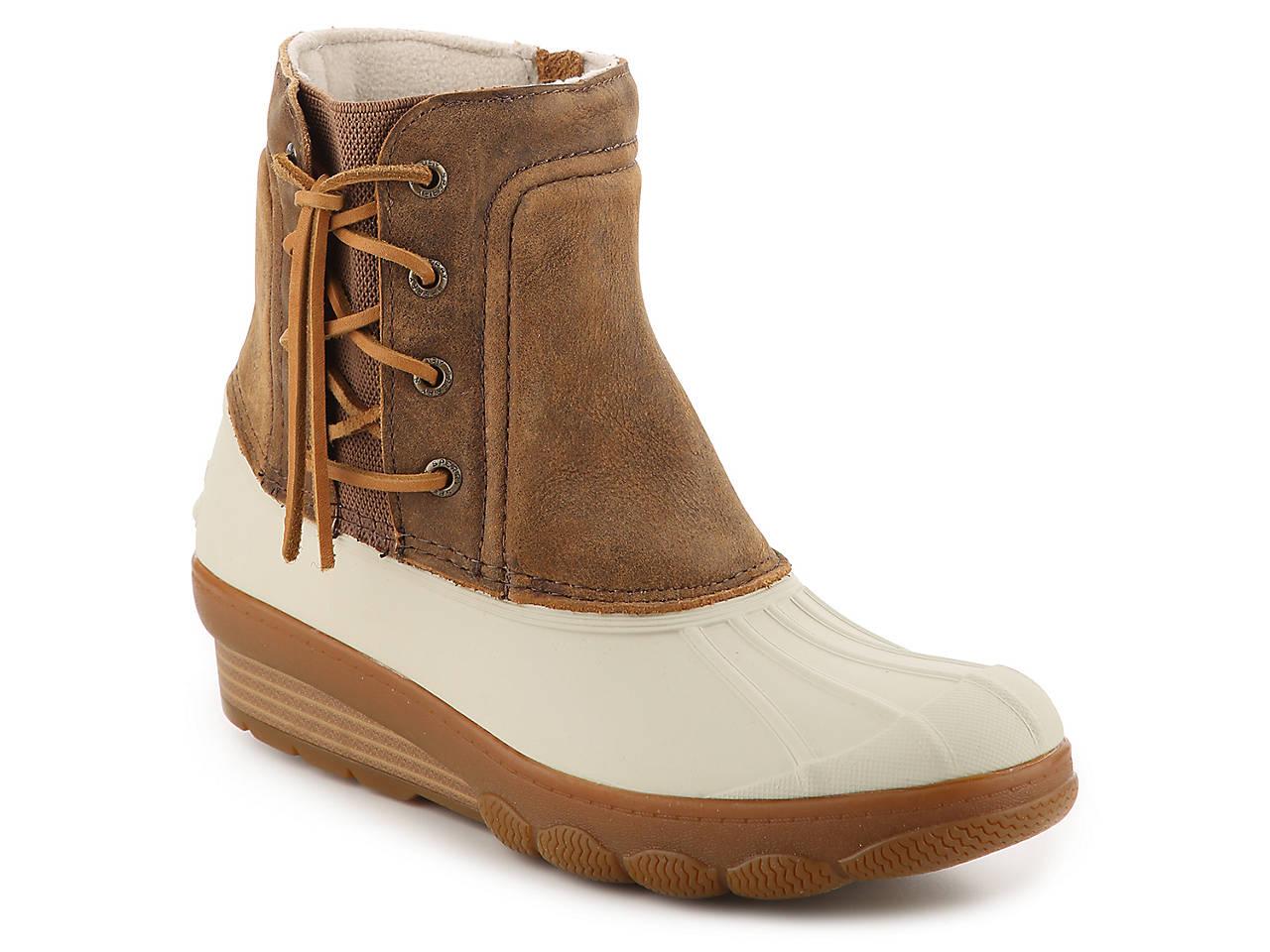 26d41d305096 Sperry Top-Sider Saltwater Spray Wedge Duck Boot Women s Shoes