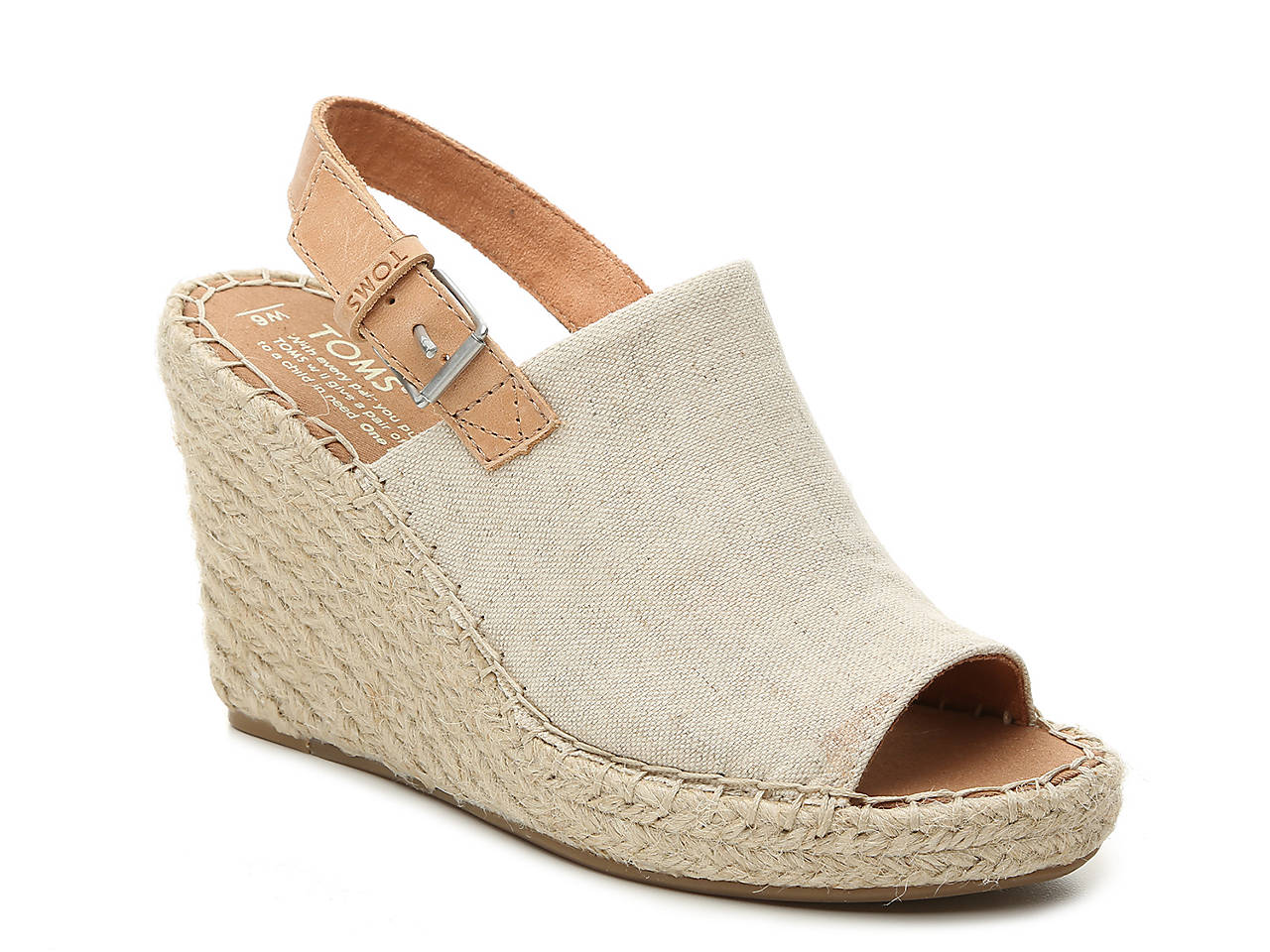 2458cf9be2f TOMS Monica Espadrille Wedge Sandal Women s Shoes