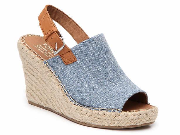 1c16942d60f8 TOMS Monica Espadrille Wedge Sandal Women s Shoes