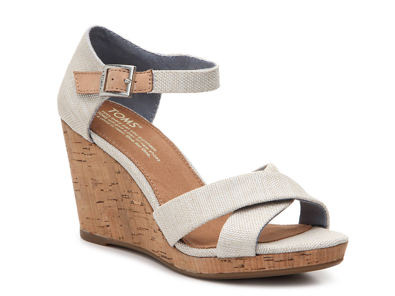 02259a3f9ed TOMS Sienna Wedge Sandal Women s Shoes
