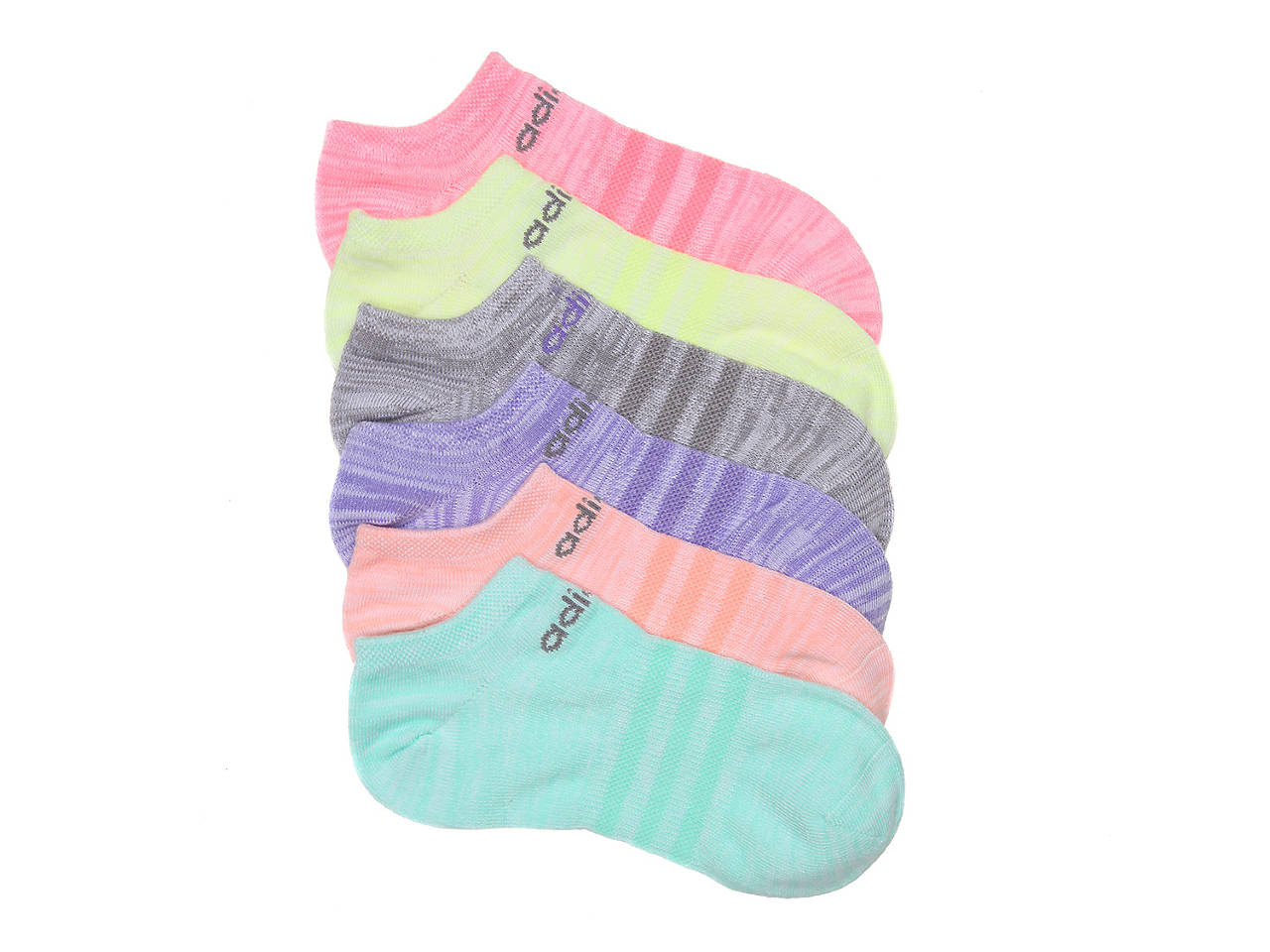 f46d92570590 adidas Superlite Climalite Toddler   Youth No Show Socks - 6 Pack ...