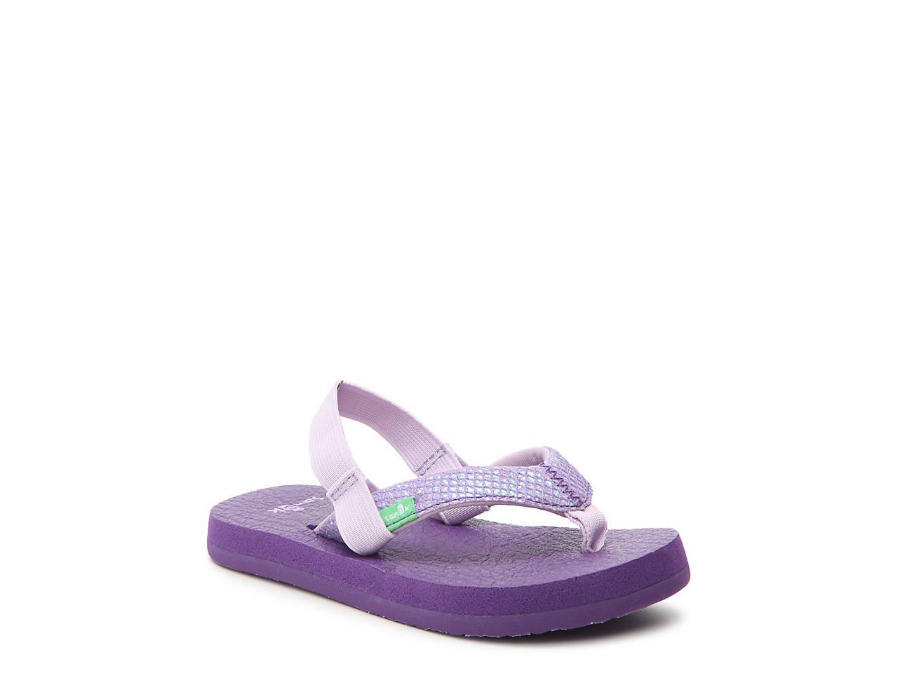 fb84451cf6ce Sanuk Yoga Glitter Toddler Flip Flop Kids Shoes