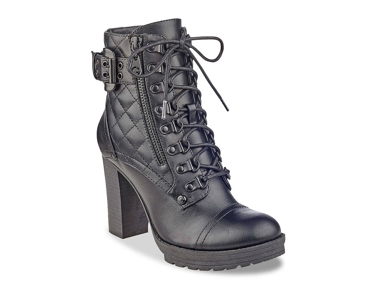 19233bd84bf G by GUESS Gloss Combat Boot Women s Shoes