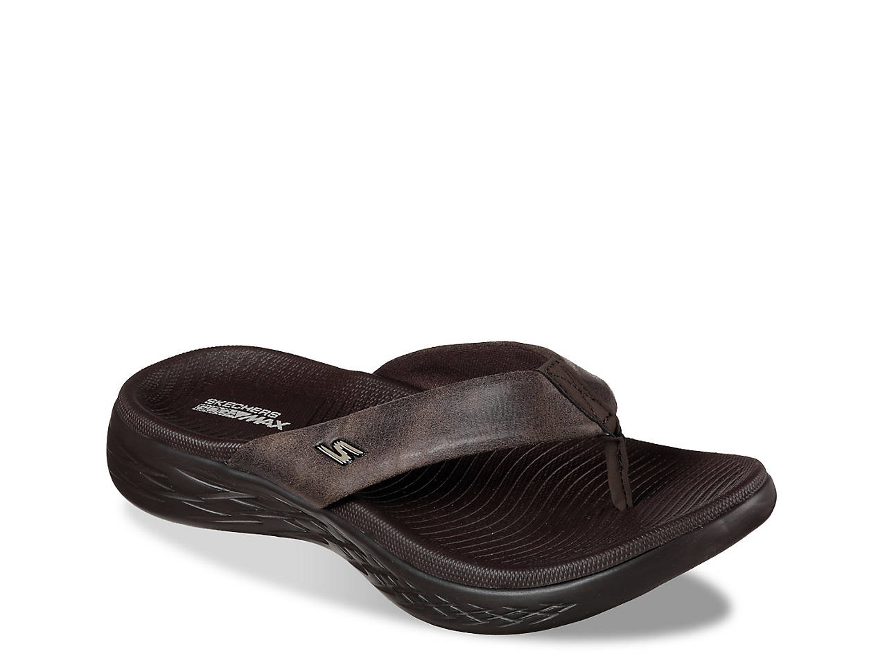 fd47460bcf79 Skechers On The Go 600 Polished Flip Flop Women s Shoes