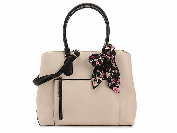 White Satchel Handbag Kelly Katie