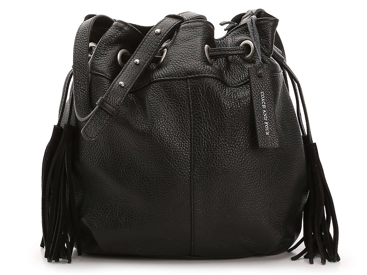 Drawstring Leather Bucket Bag