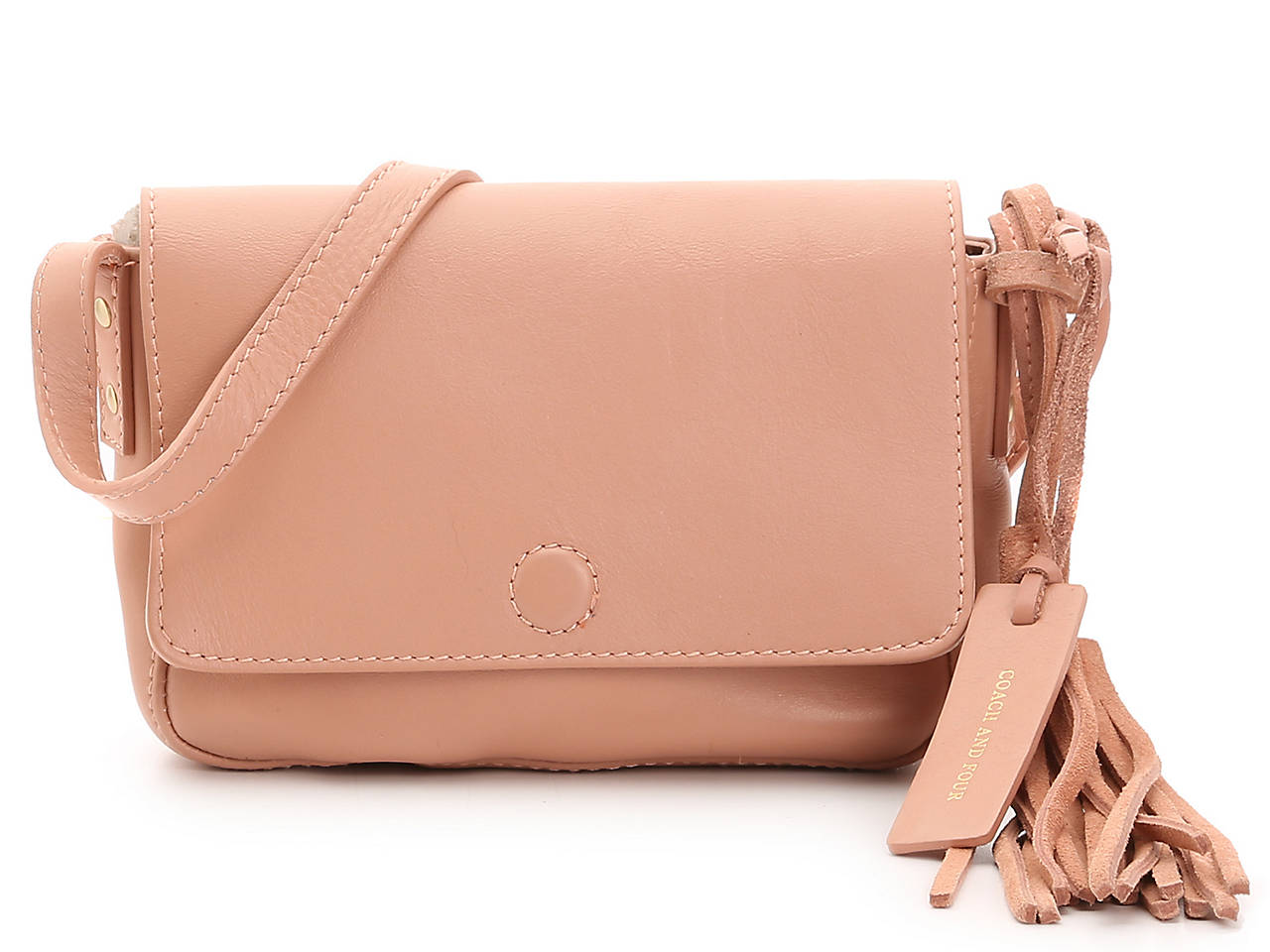 Front Flap Leather Crossbody Bag