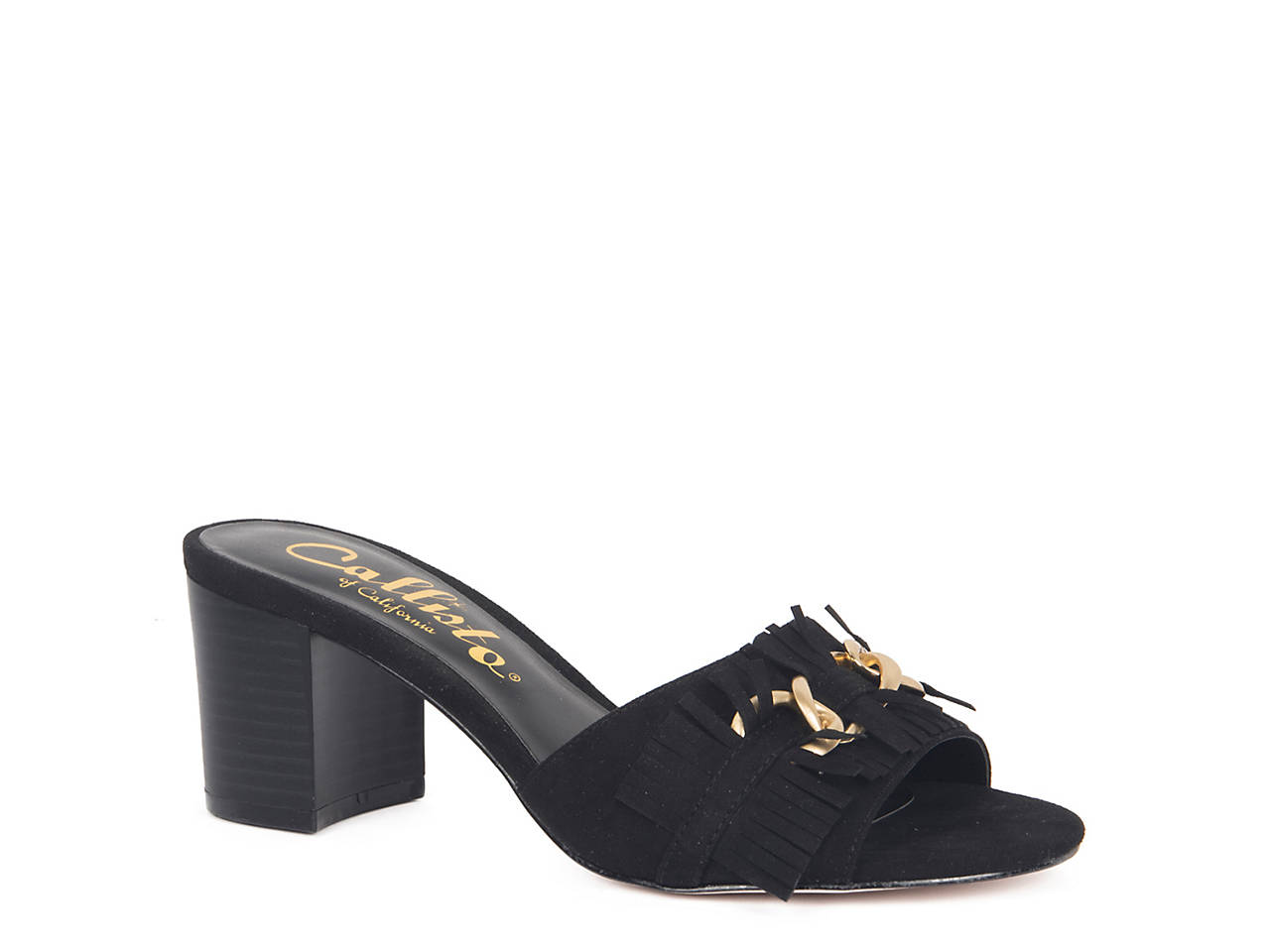 Callisto Women's Zinnia Block Heel Slide Sandal XzCHD