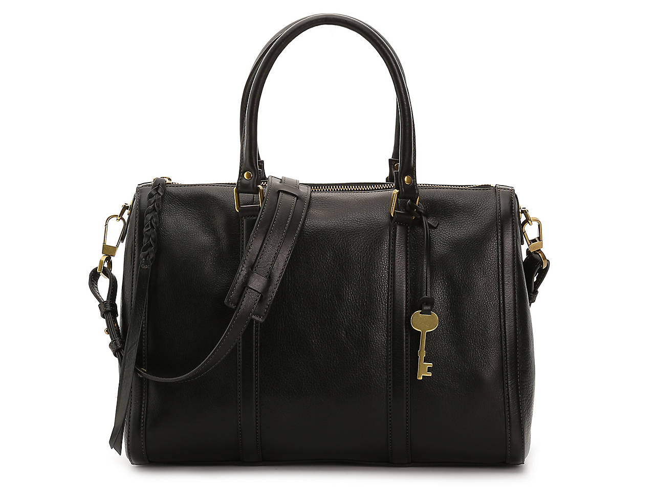 f707035ea267 Fossil Kendall Leather Satchel Women s Handbags   Accessories