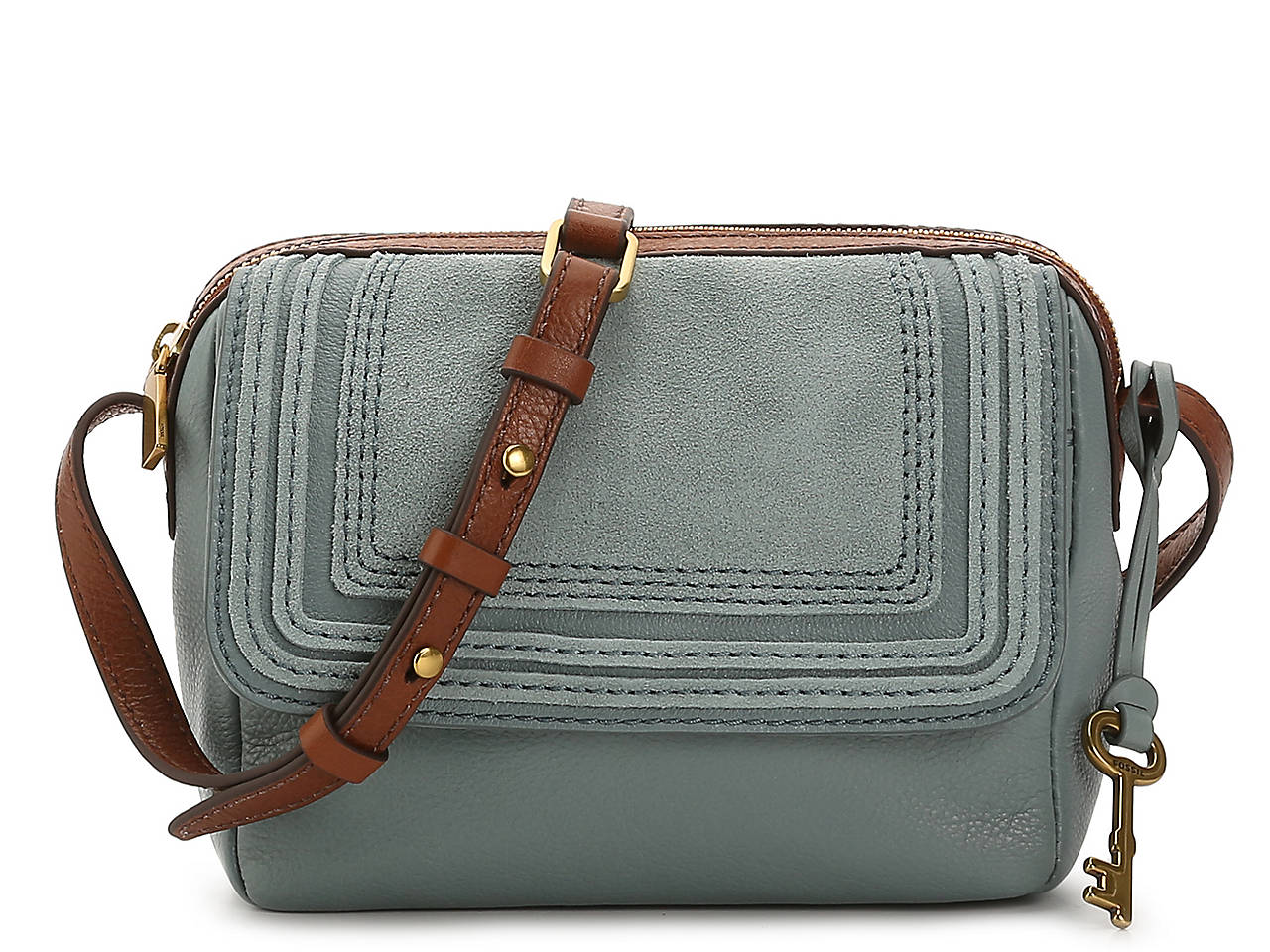 8c7c17258c03 Fossil Aria Leather Crossbody Bag Women's Handbags & Accessories | DSW