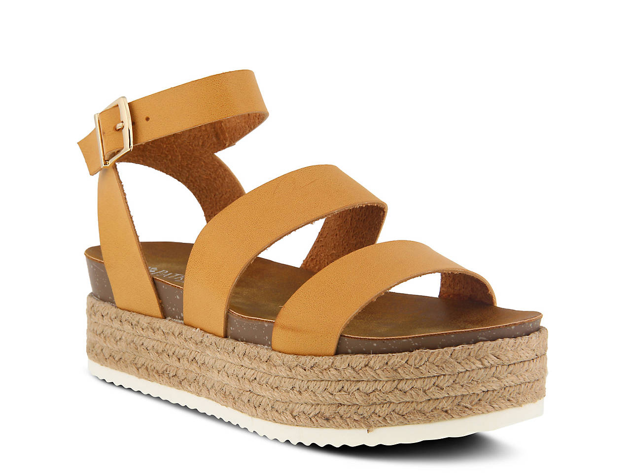 Tendencies Sandals Footbed 2 Strap Brown 41 Patrizia By Spring Step Larissa Espadrille Platform Sandal Womens