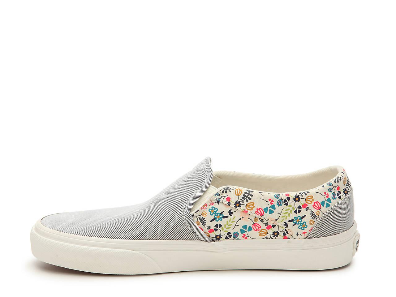 Vans Asher Stripe Floral Slip On Sneaker Women S Women S