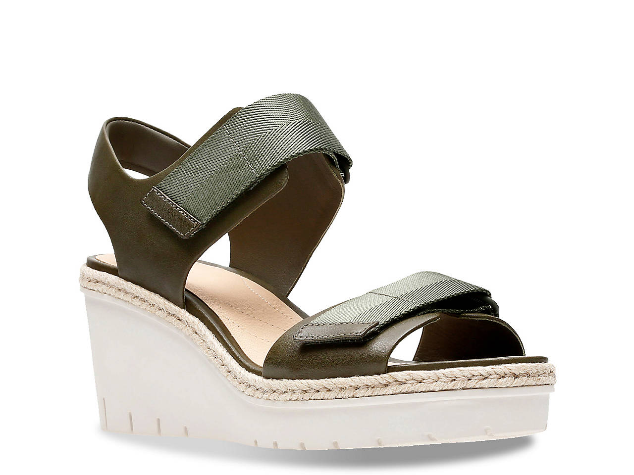Clarks Artisan Palm Shine Wedge Sandal Women s Shoes  06f4a5d5d7