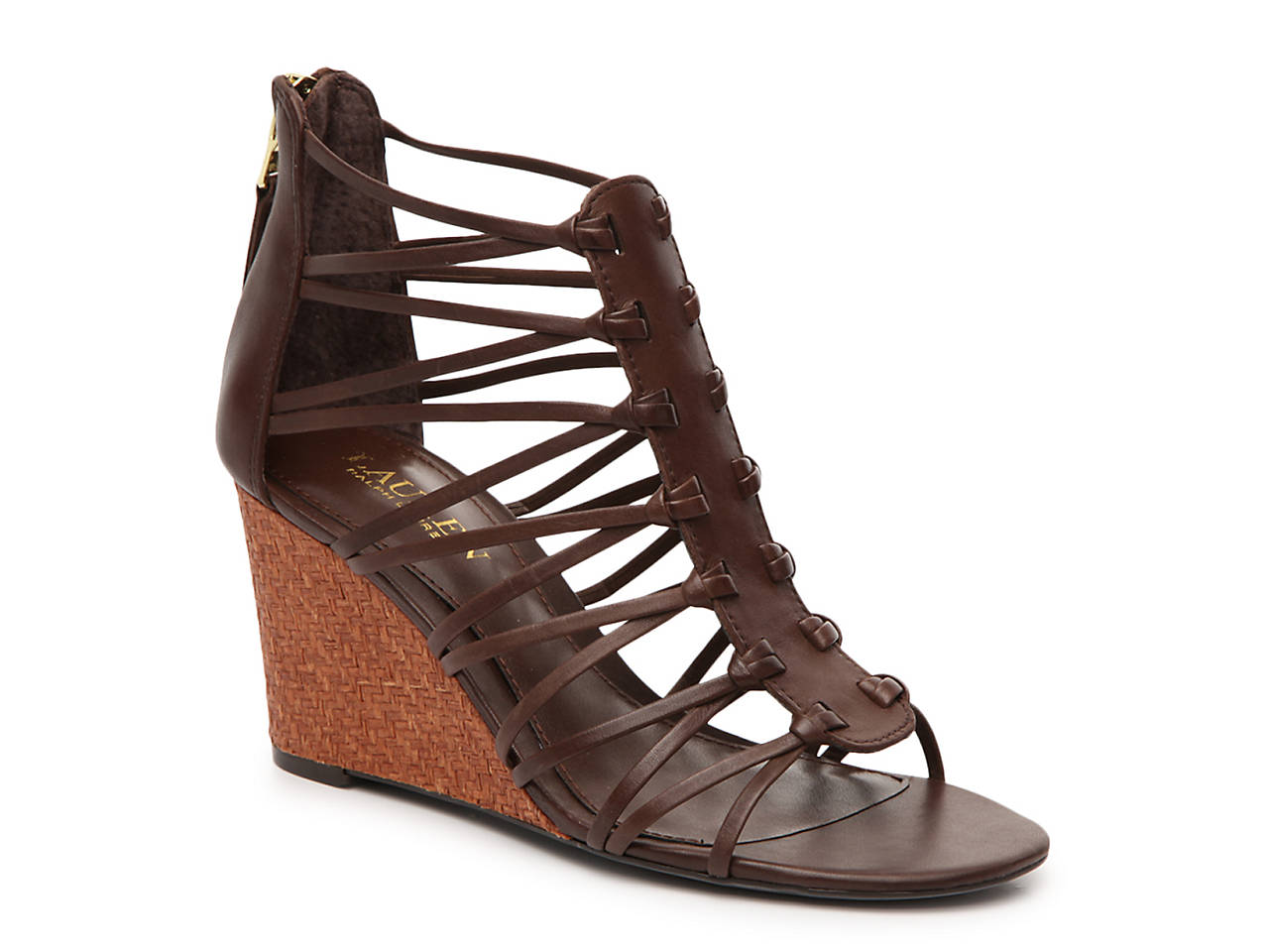 Lauren Ralph Lauren Leather Wedge Sandals Clearance Order Ebay For Sale Cost 31NNgu