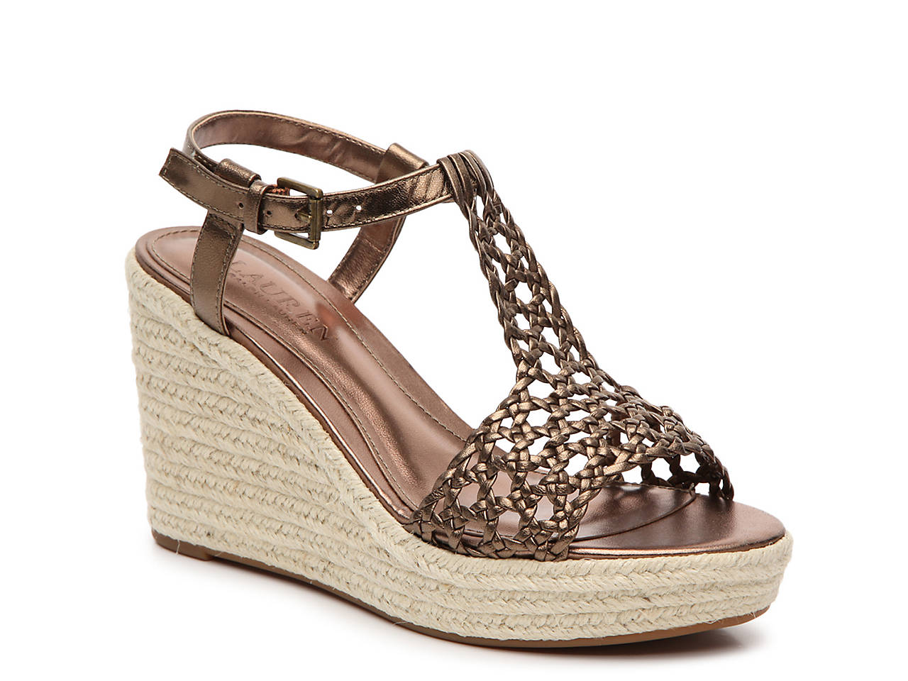 cd1683698 Lauren Ralph Lauren Hailey Wedge Sandal Women's Shoes | DSW