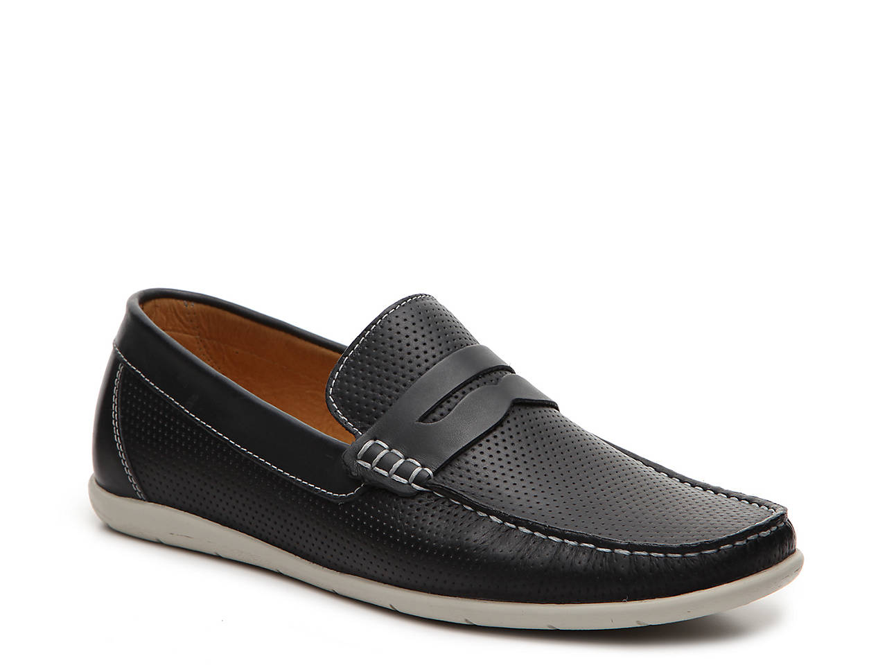 fdbf44305d4 Mercanti Fiorentini Perforated Penny Loafer Men s Shoes
