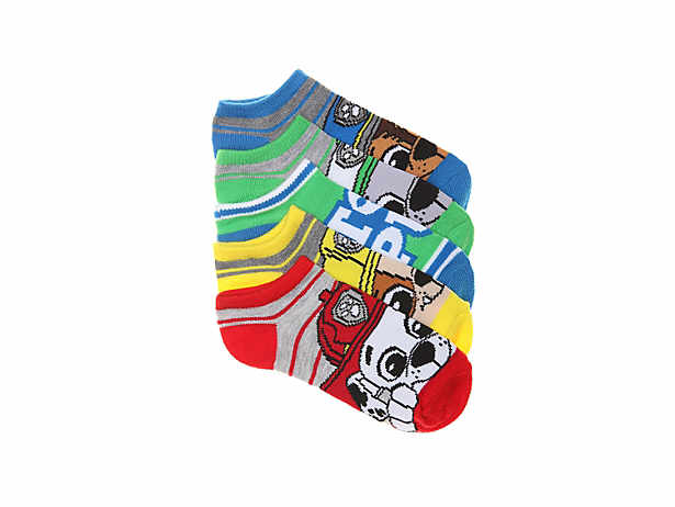 paw patrol toddler youth no show socks 5 pack - Toddler Cartoon Characters
