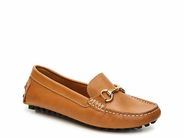 Ladies Black Slip on Mocassin Style Shoe F8974
