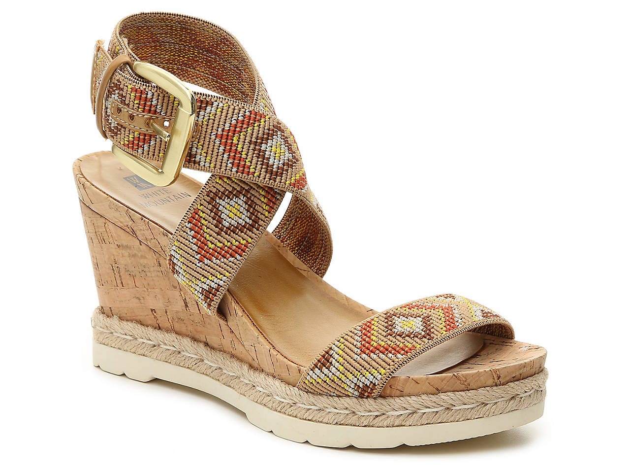 White Mountain Pearle Wedge Sandal (Women's)