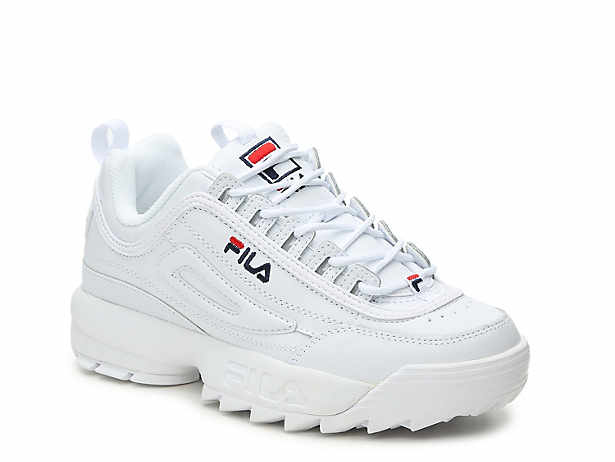Women s White Fila Sneakers  75355c9b6ae8