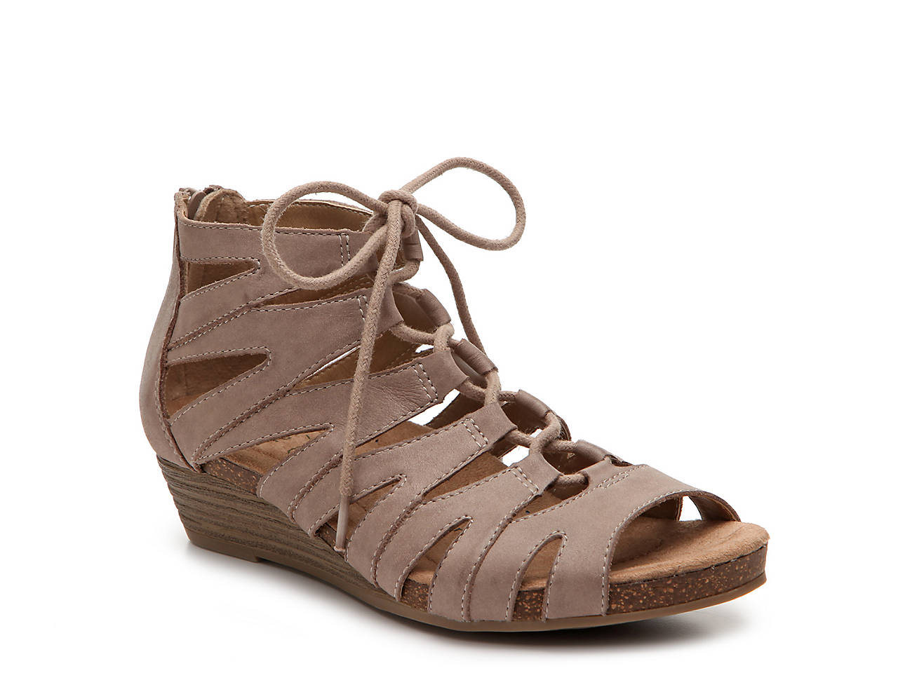 Earth Origins Leather Lace-up Wedges - Harley sale buy cheap sale 100% guaranteed buy cheap good selling cheap clearance free shipping cheap QnLUdWN