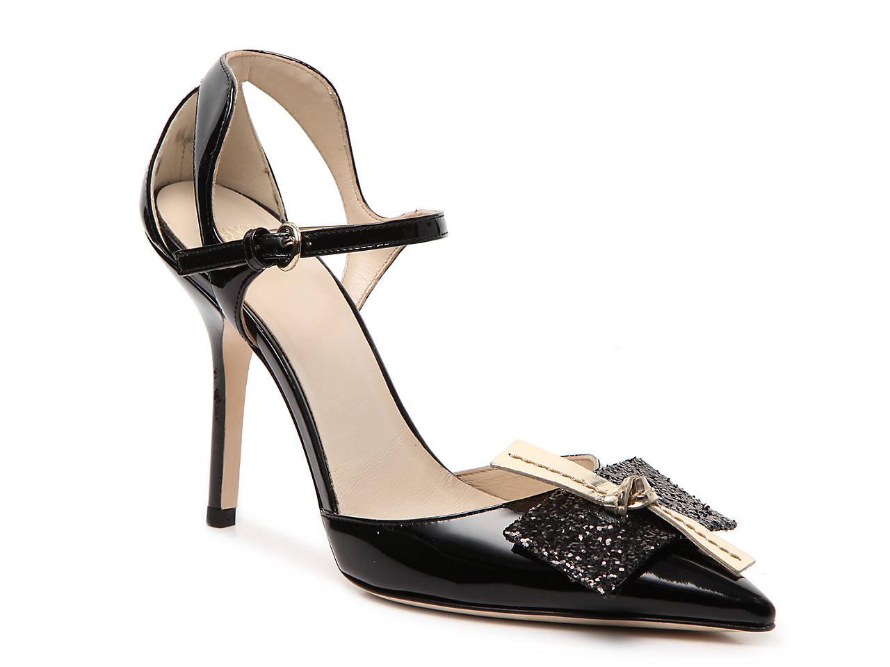 Frances Valentine Patent Leather Slide Sandals