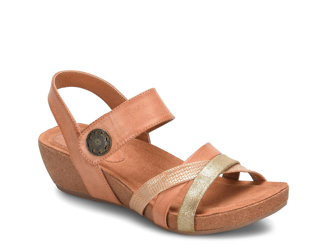 7eb99bf224fa Eurosoft Renae Wedge Sandal Women s Shoes