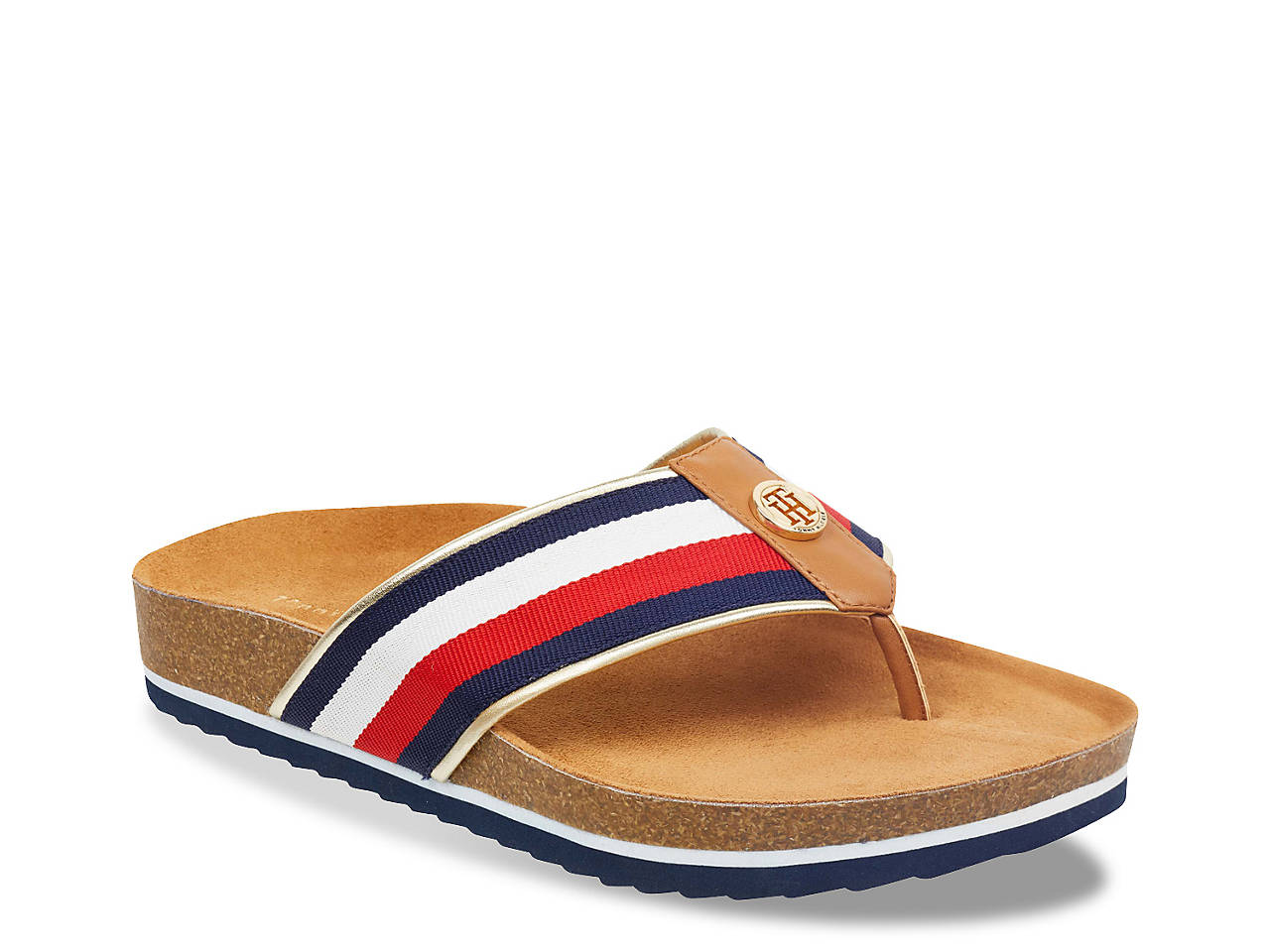 cab2d8489809 Tommy Hilfiger Gevina Flat Sandal Women s Shoes