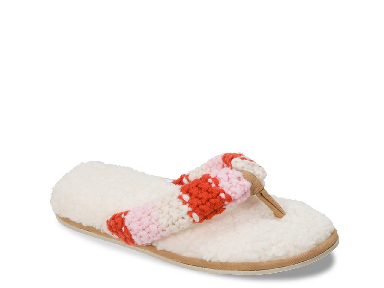 14e57cc016c3 Dearfoams Chunky Stripe Thong Slipper Women s Shoes