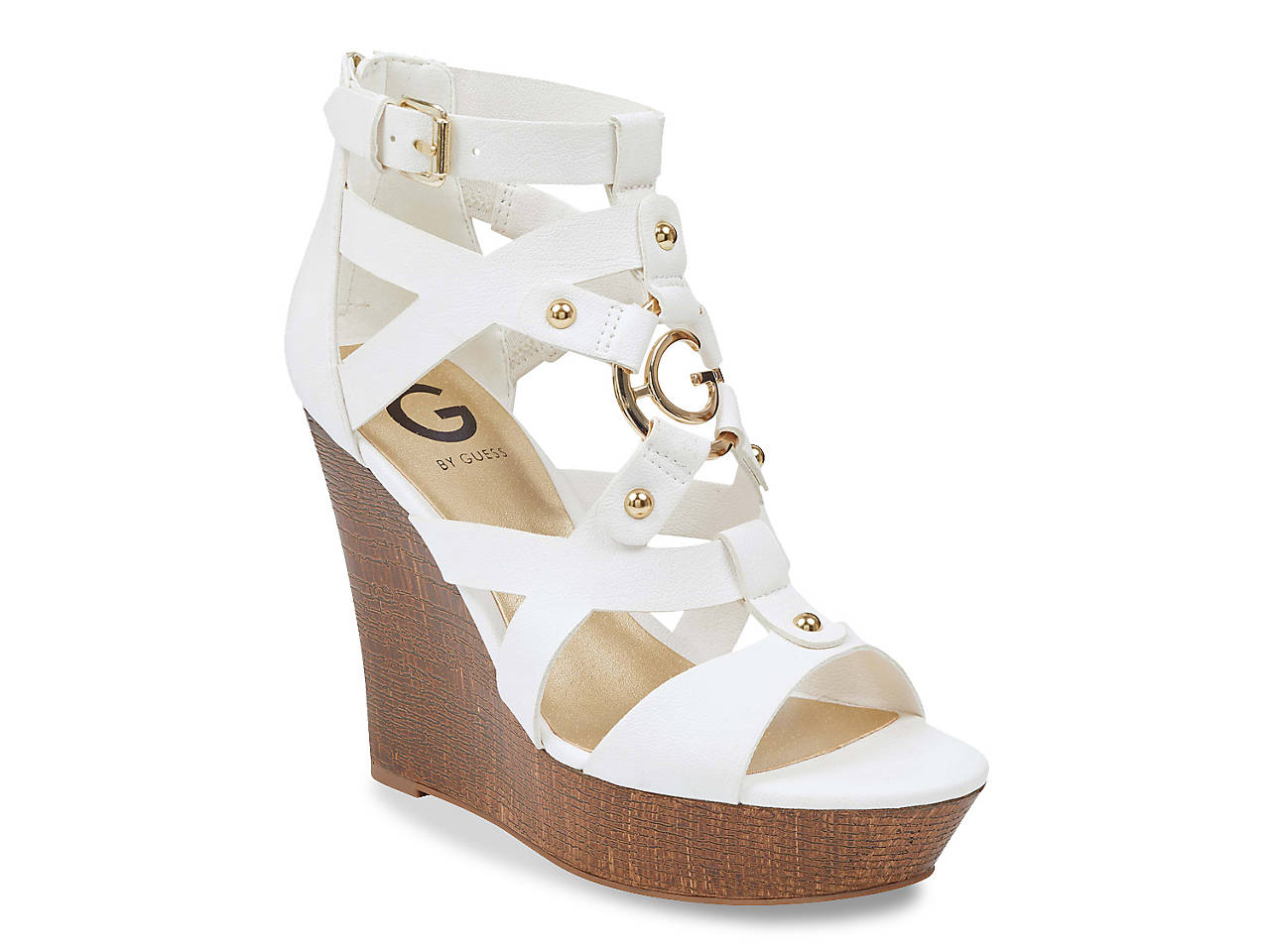 G By Guess Dodge Wedge Sandal Women S Shoes Dsw