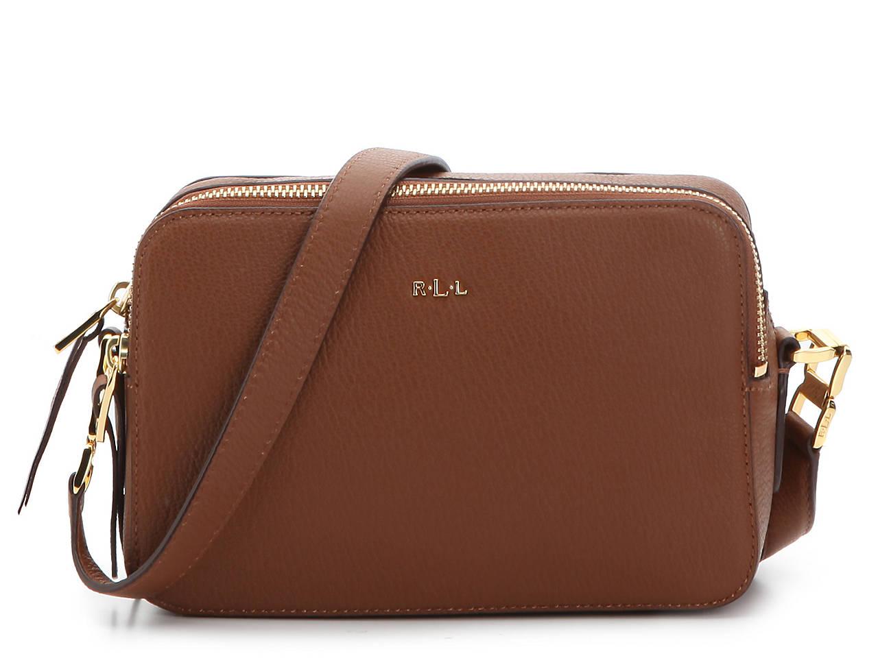 aa12c983815e Lauren Ralph Lauren Rawson Celeste Leather Crossbody Bag Women's ...