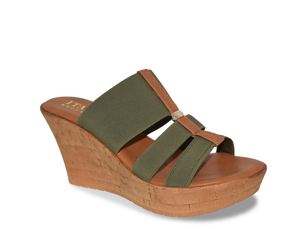 Vali Wedge Sandal by Italian Shoemakers