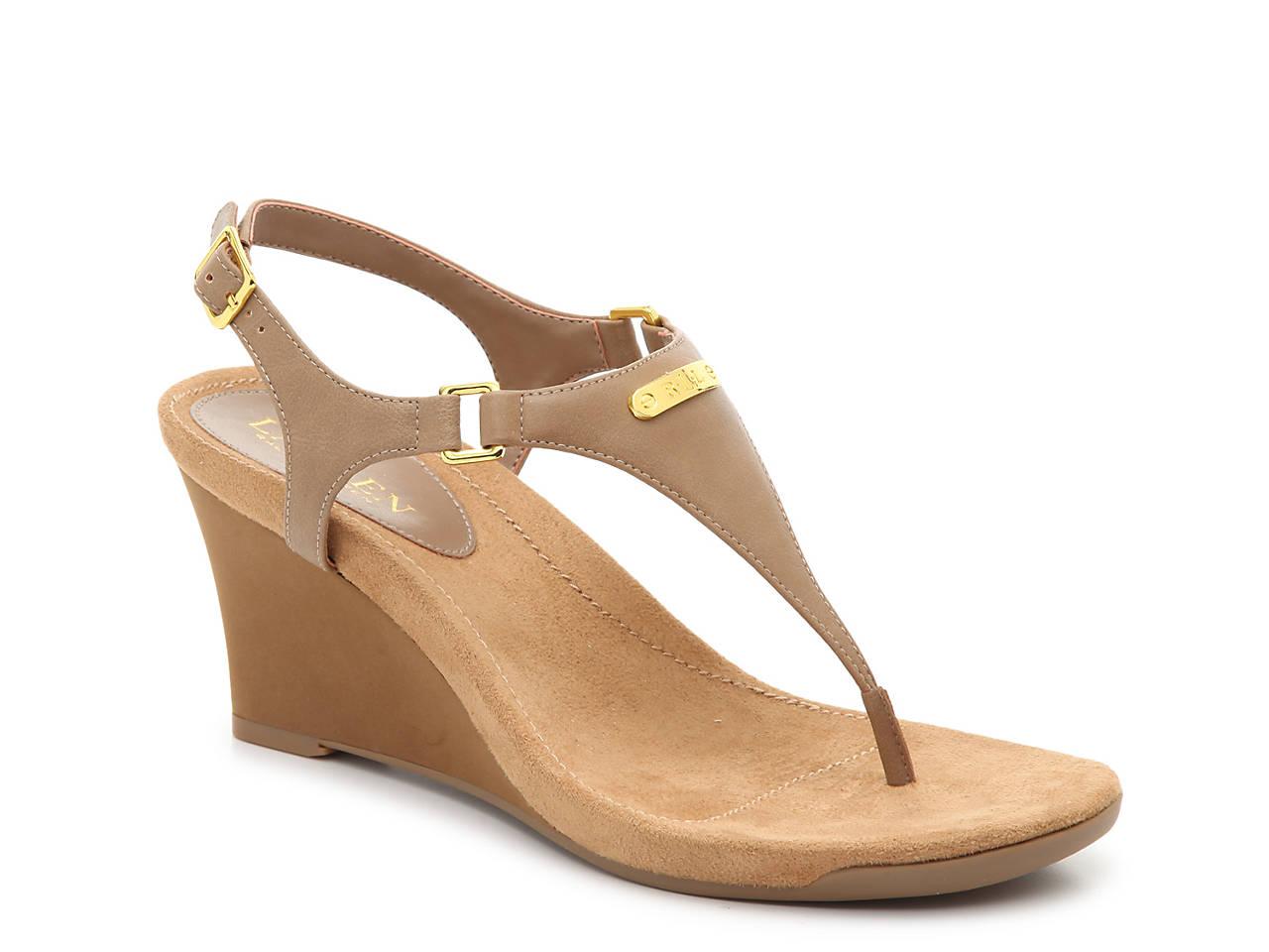 7cfb37ddd Lauren Ralph Lauren Nikki Wedge Sandal Women's Shoes   DSW