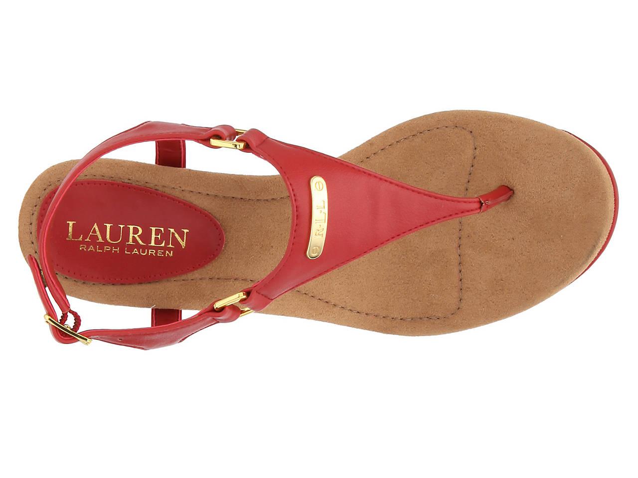 45fa3996c5 Lauren Ralph Lauren Nikki Wedge Sandal Women's Shoes | DSW