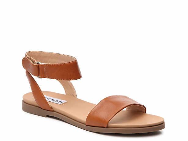 376d86b6d908 Women s Brown Flat Ankle Strap Shoes
