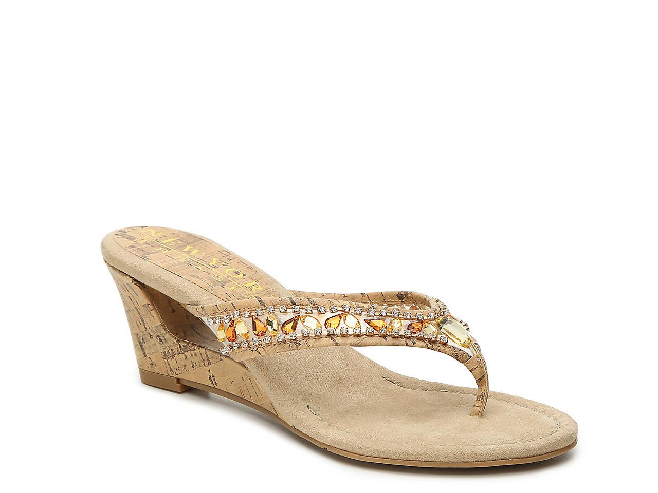 New York Transit Fun Time ... Women's Wedge Sandals buy cheap footlocker QGumIH