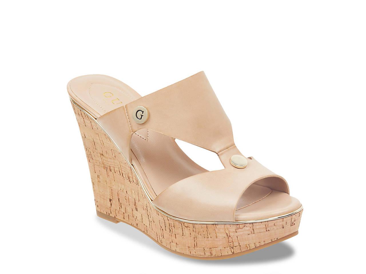 88d7b41c3 Guess Sheley Wedge Sandal Women's Shoes | DSW