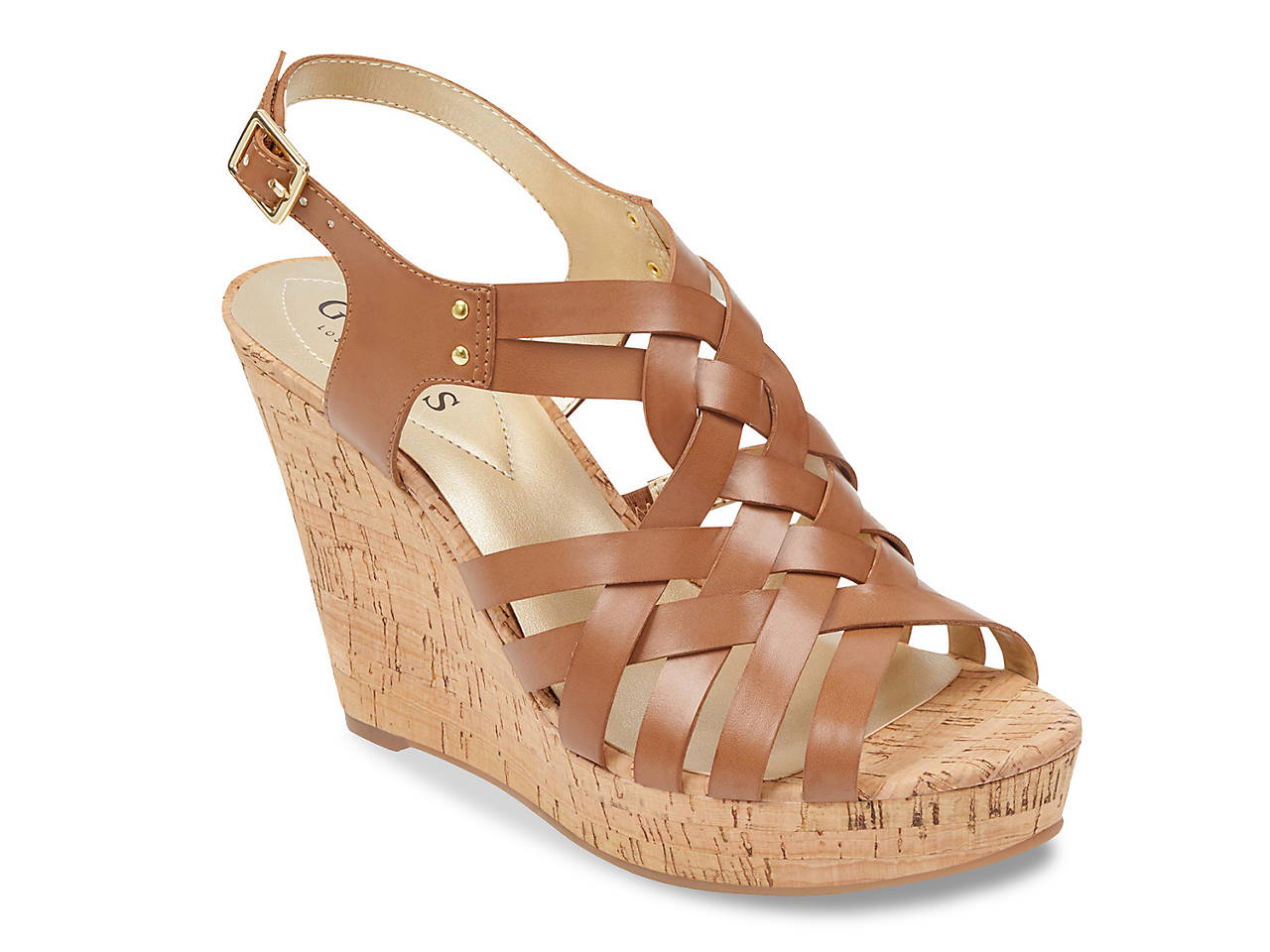 f43c1d0733f Guess Eppie Wedge Sandal Women s Shoes