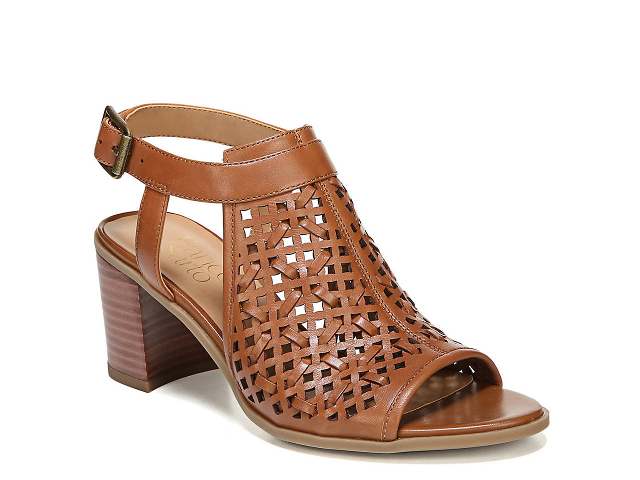 Franco Sarto Harlet Dress Sandal - WOMEN - BROWN LEATHER